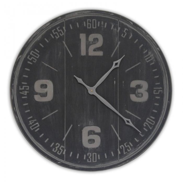 Charcoal gray wood clock