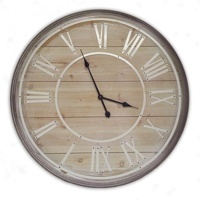 Light wood clock