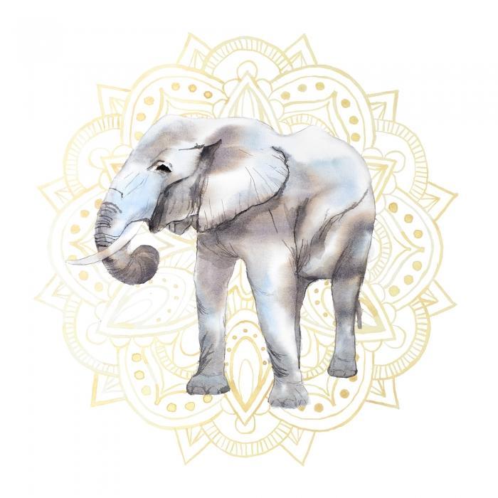 Elephant avec motif mandalas