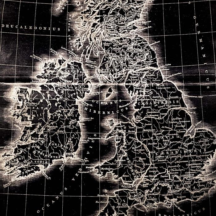 Carte du monde sombre