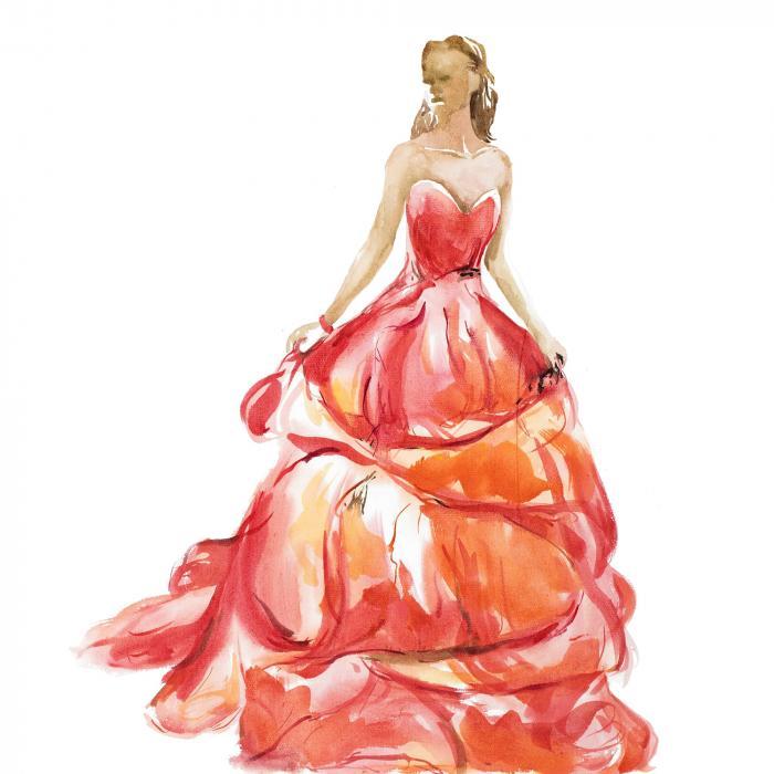 Magnifique robe de bal rouge