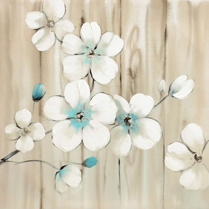 Fleurs de cerisier sur bois