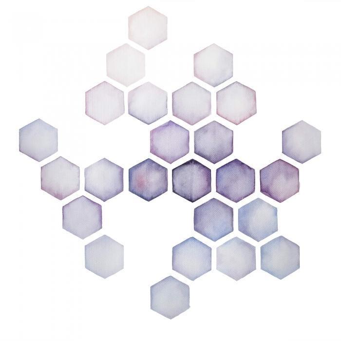 Alvéoles lilas