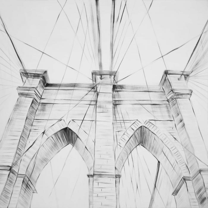 Esquisse du brooklyn bridge