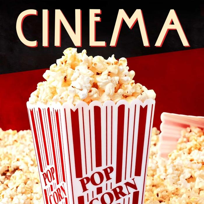 Popcorn sur affiche de cinéma