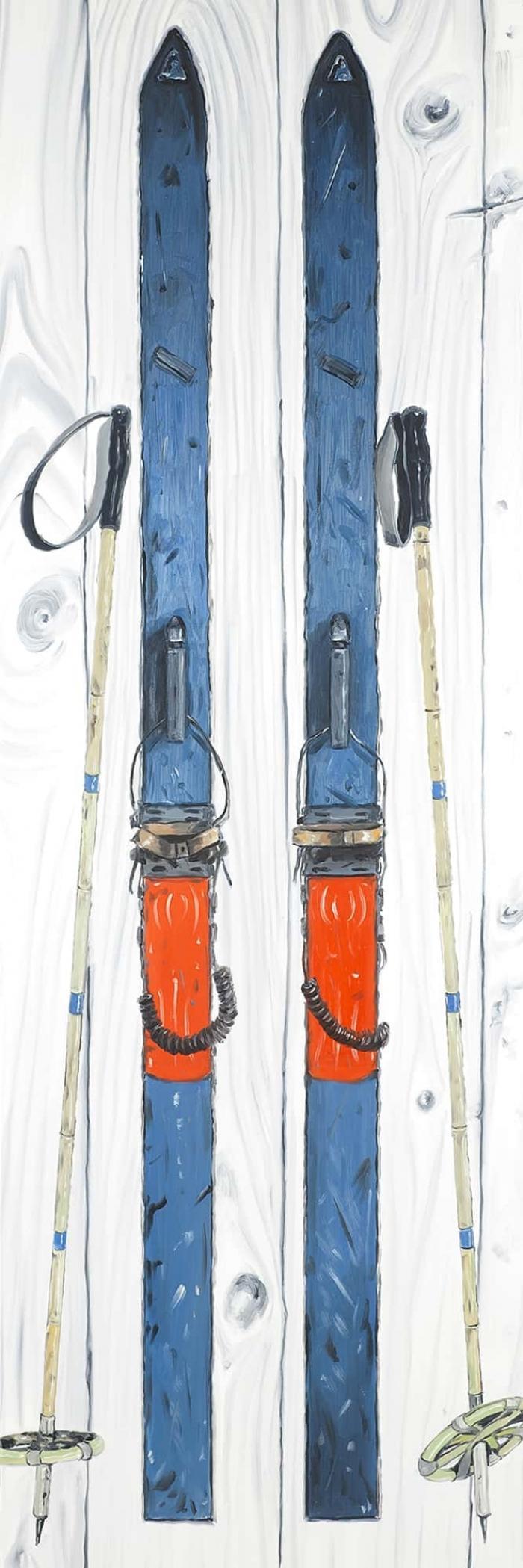 Ski blue vintage