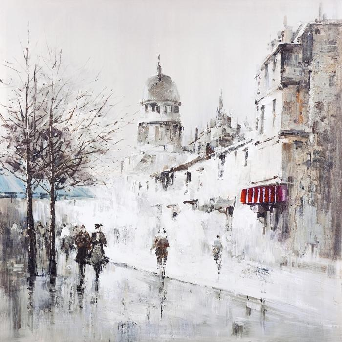 Rue de ville grise