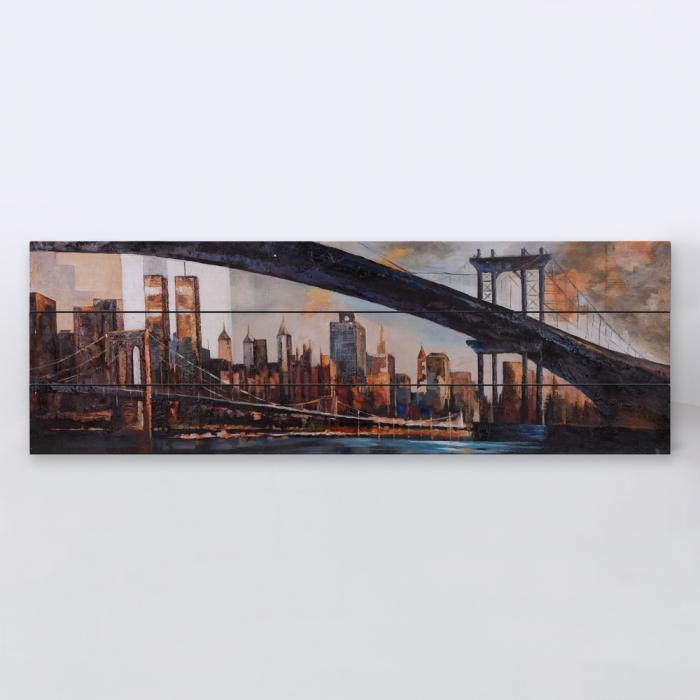 Bridge in the city at sunset