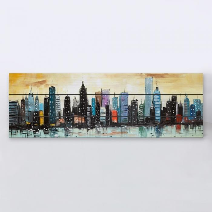 Skyline on abstract cityscape
