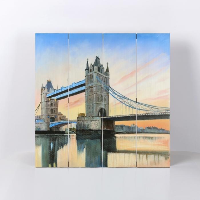 Coucher de soleil sur le london bridge