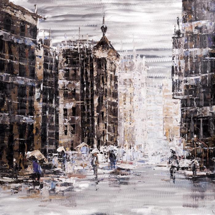 Ville industrielle et abstraite