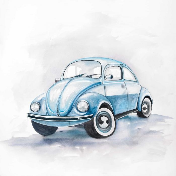 Beetle blue car