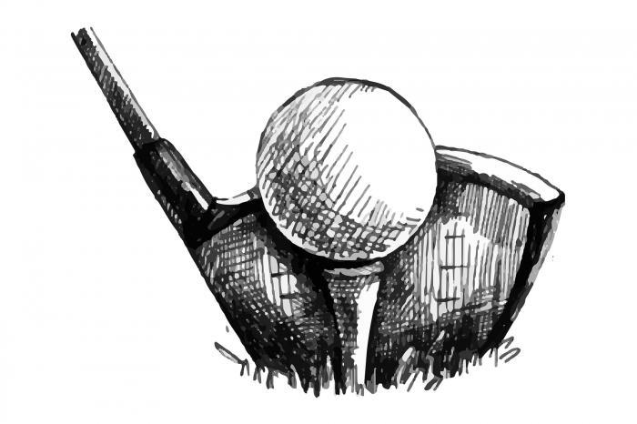 Illustration d'une balle de golf