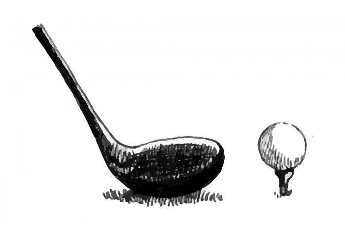 Illustration d'un club de golf