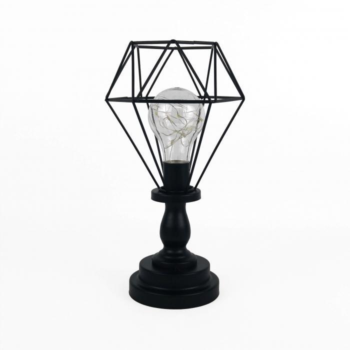 Lampe de métal noire
