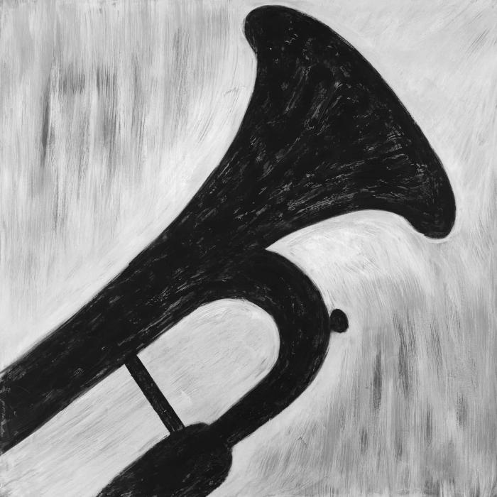 Silhouette d'une trompette