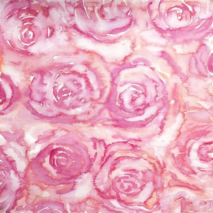 Bouquet de roses en aquarelle