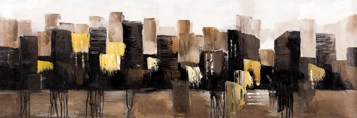 Earthy tones abstract cityscape