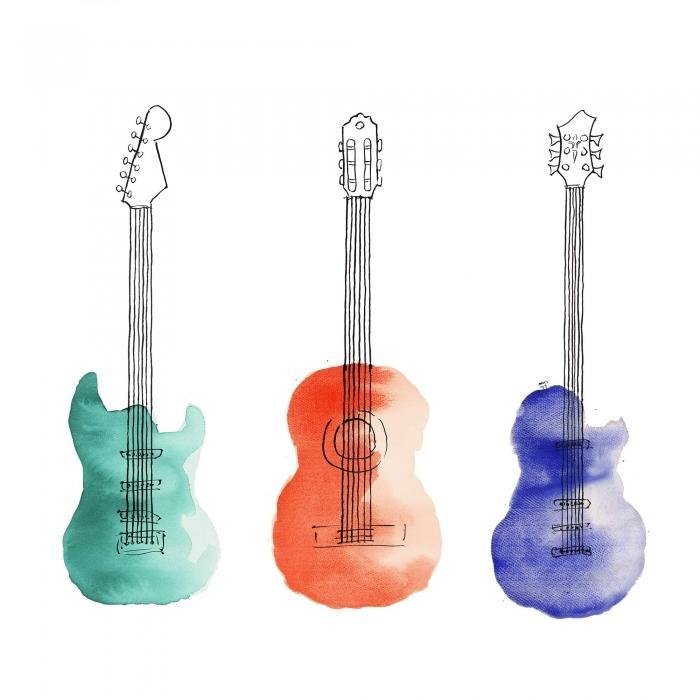 Trois guitares