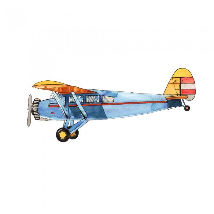 Petit avion bleu