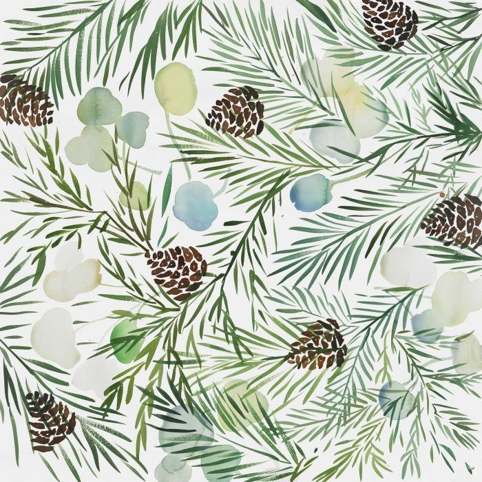 Motif cocotte de pins