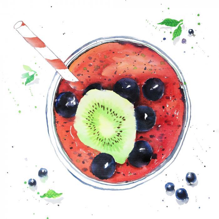 Smoothies aux petits fruits