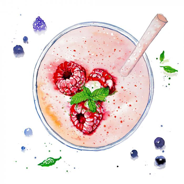 Smoothie aux fraises & framboises