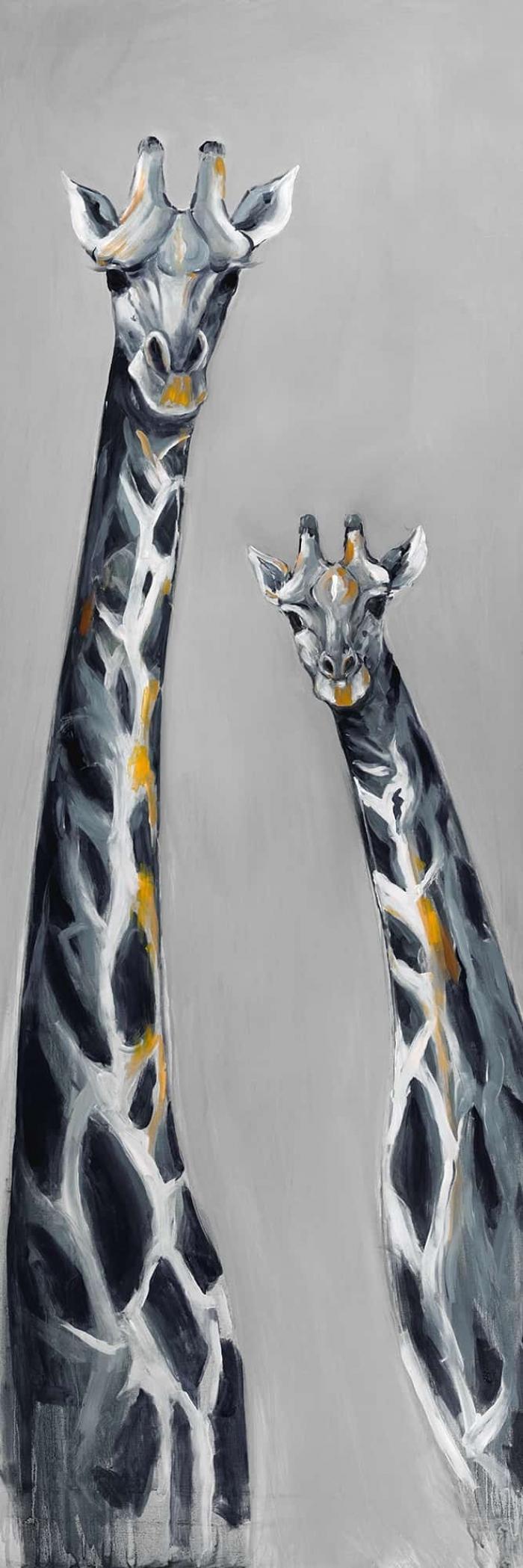 Girafes bleu acier