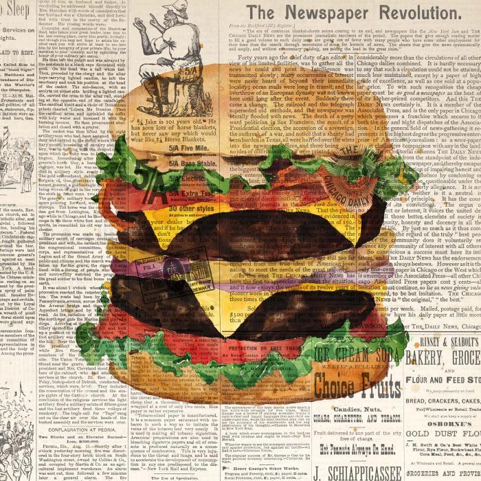 Cheeseburger double tout garni style vintage