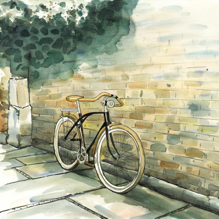 Vieille bicyclette urbaine