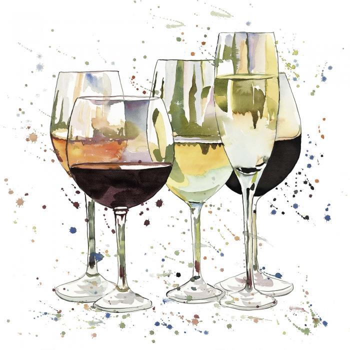 Belle coupes à vin