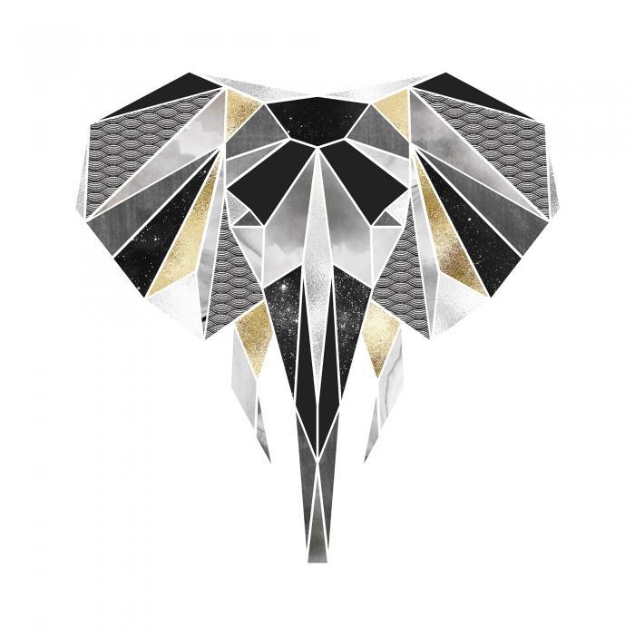 éléphant géométrique