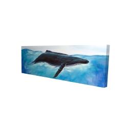 Canvas 16 x 48 - 3D - Blue whale