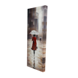 Canvas 16 x 48 - 3D - Quiet walk in the rain