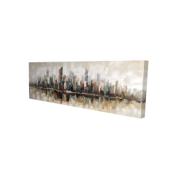 Canvas 16 x 48 - 3D - Abstract buildings with textures