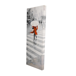 Canvas 16 x 48 - 3D - Rainy day in the city