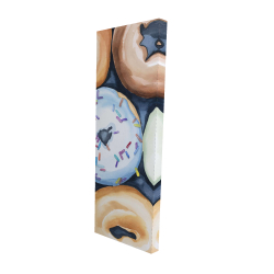 Canvas 16 x 48 - 3D - Watercolor doughtnuts with icing