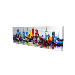 Canvas 16 x 48 - 3D - Abstract and colorful city
