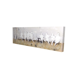 Canvas 16 x 48 - 3D - Eight perched birds