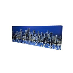 Canvas 16 x 48 - 3D - City in blue