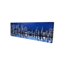 Canvas 16 x 48 - 3D - Blue skyline