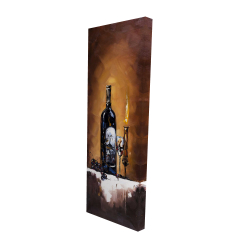 Canvas 16 x 48 - 3D - Candlelit wine