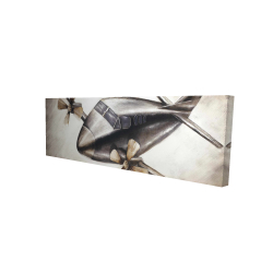 Canvas 16 x 48 - 3D - Airplane in full flight