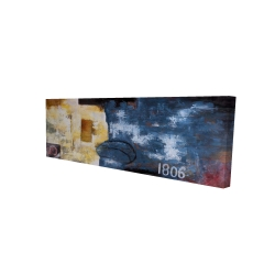 Canvas 16 x 48 - 3D - Abstract art with numbers