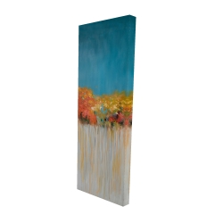 Canvas 20 x 60 - 3D - Colorful abstract flowers on a grey background