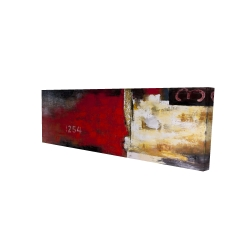 Canvas 16 x 48 - 3D - Abstract industrial art with numbers