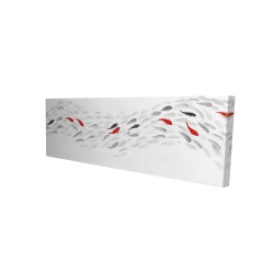Canvas 16 x 48 - 3D - Swimming fish wave