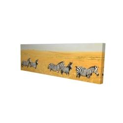 Canvas 16 x 48 - 3D - Herd of zebra