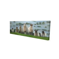 Canvas 16 x 48 - 3D - Flock of sheep