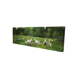 Canvas 16 x 48 - 3D - Fields of sheep